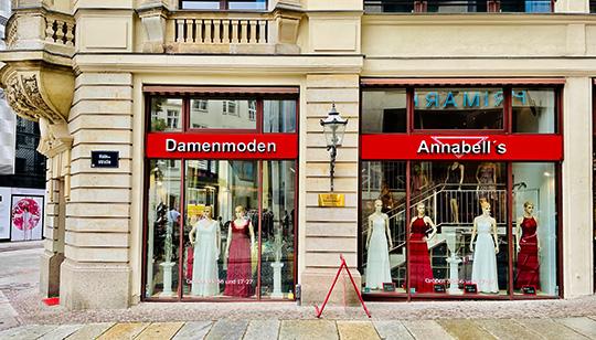 Damenmoden-Boutique Brühl 4, Ecke Hainstraße in Leipzig-Zentrum